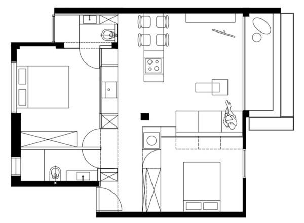 tel aviv apartment14 Flow of Light in Cozy Tel Aviv Apartment
