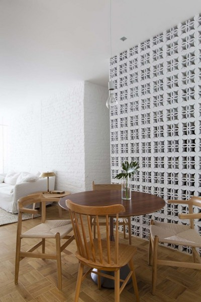 Ap Cobogó Apartment Renovation in São Paulo by Alan Chu Architects