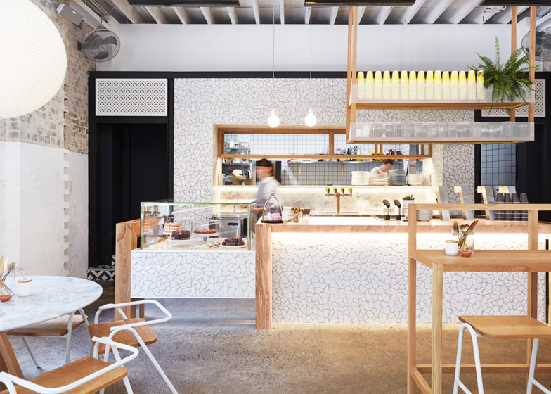 Australian cafe lighting design by Matt Woods