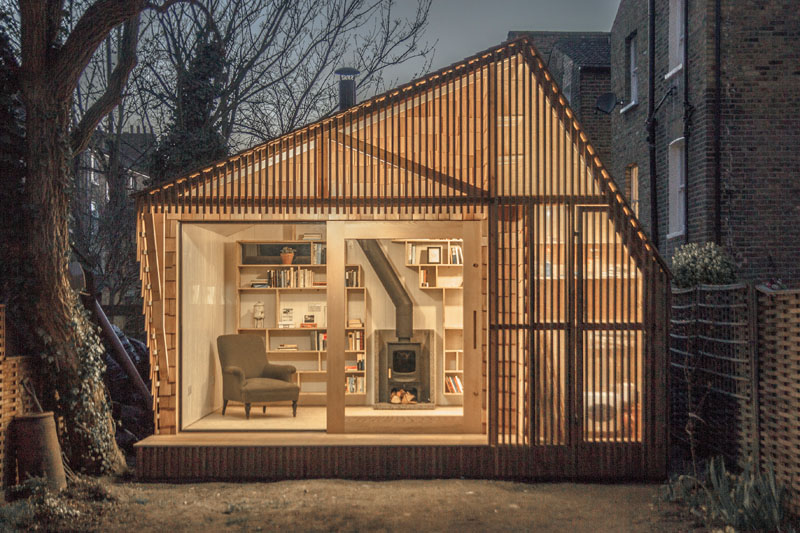this tiny shed was designed as a workspace for a writer 1 This Tiny Shed was Designed as a Workspace for a Writer