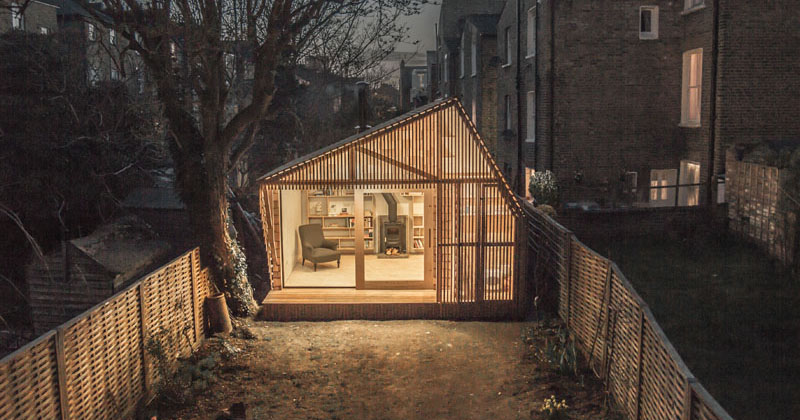 this tiny shed was designed as a workspace for a writer 2 This Tiny Shed was Designed as a Workspace for a Writer
