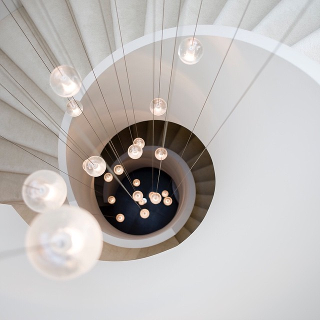 toorak house stair lights Toorak House by Rob Mills Architecture
