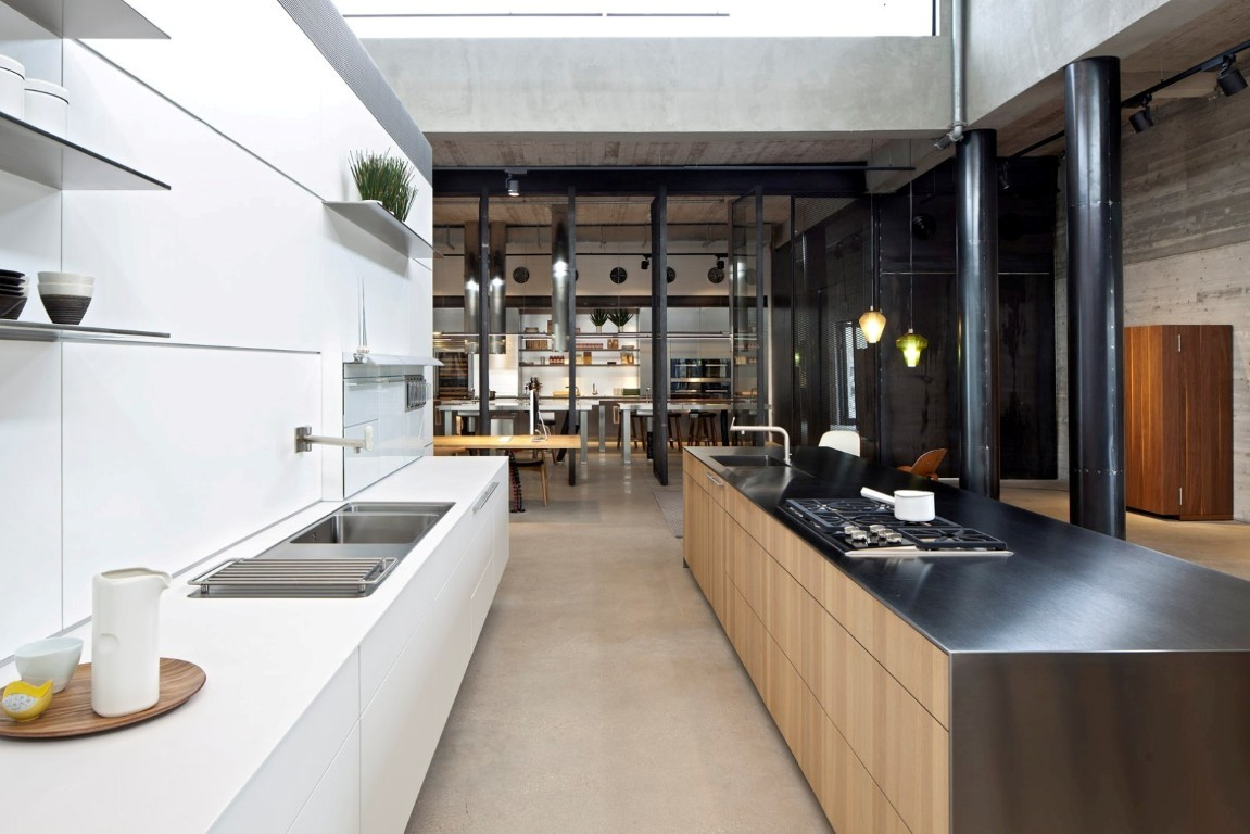 Modern kitchen concept at the Bulthaup Showroom