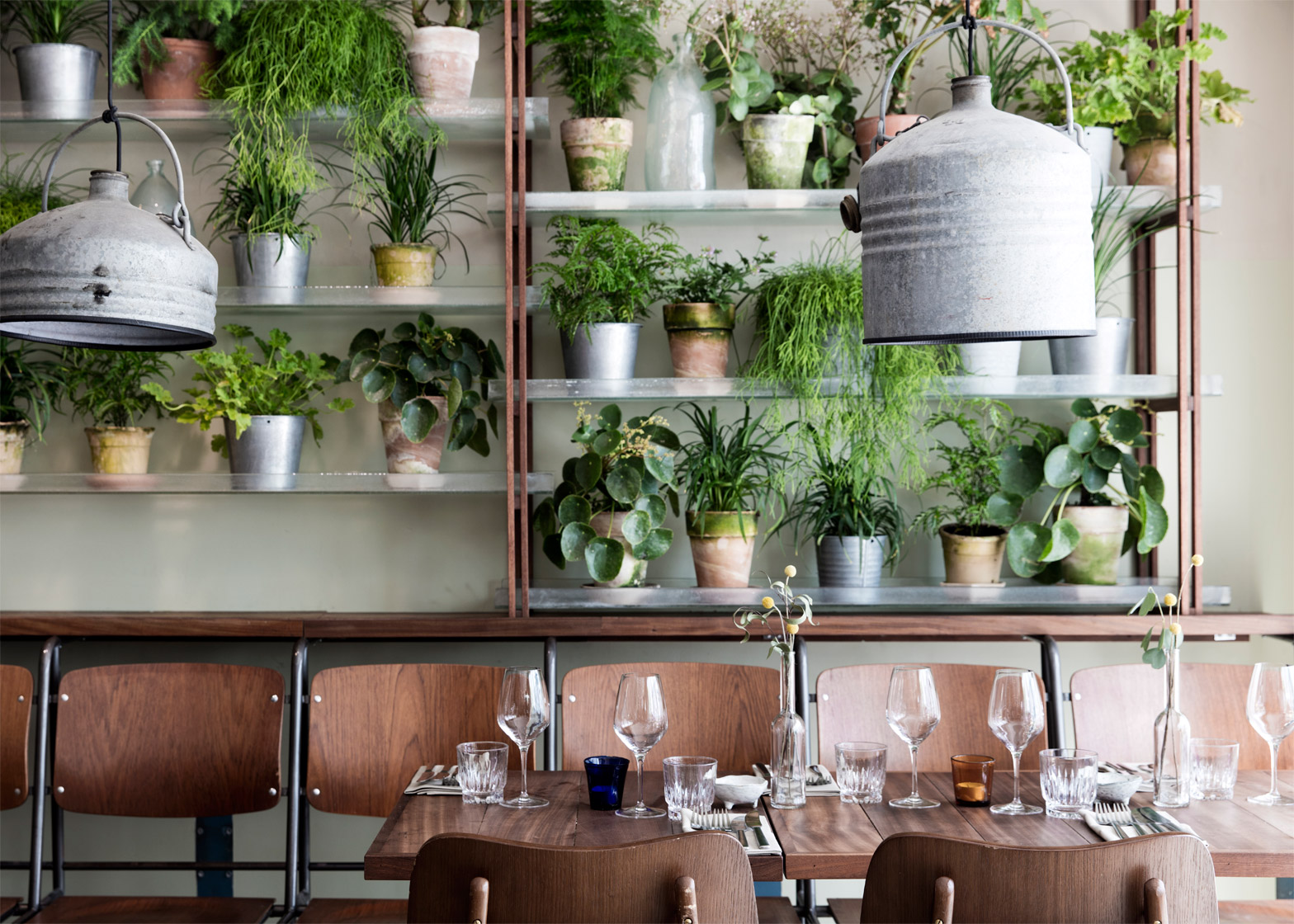 Restaurant Decoration Plant : Danish design studio creates an indoor garden for a