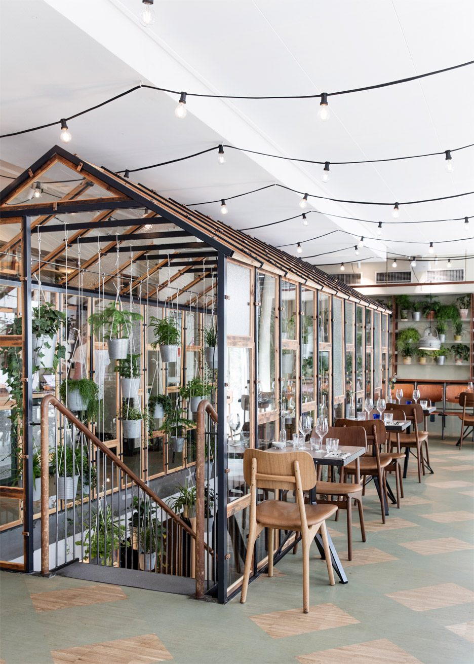 Danish Design Studio Creates an Indoor Garden For a Restaurant