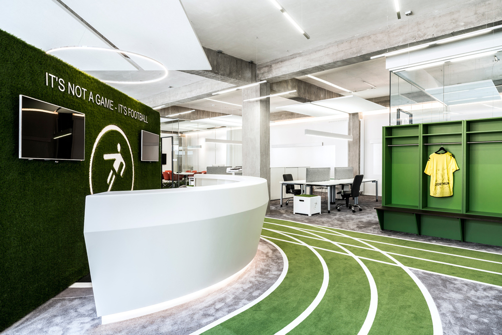 Feel Like For A Game Onefootballs Office By Tkez Architects 1 Feel Like For A  Game
