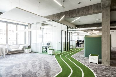 Feel like for a game? ONEFOOTBALL'S office by TKEZ ARCHITECTS