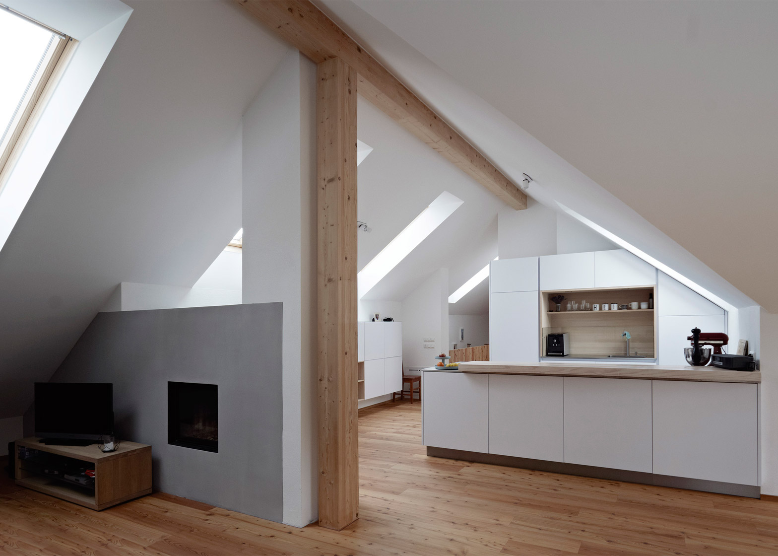 Modern extension was added to a traditional farmhouse in for Interior design osterreich