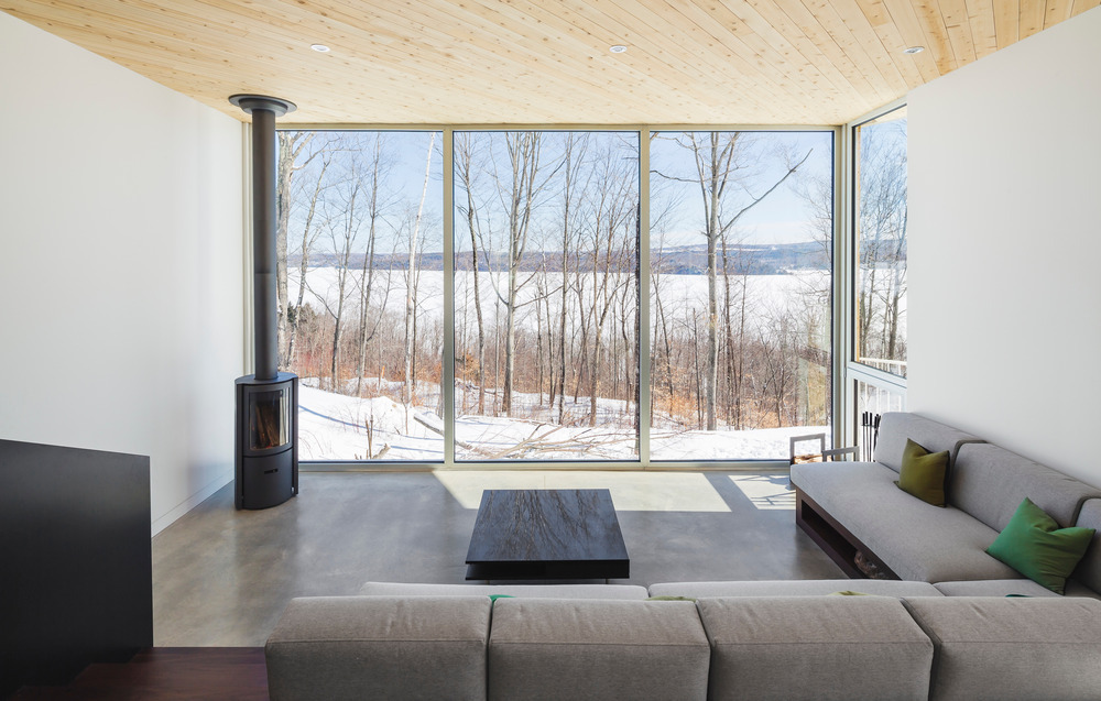 nook residence by mu architecture blends with winter landscape 3 Nook Residence by MU Architecture Blends with Winter Landscape