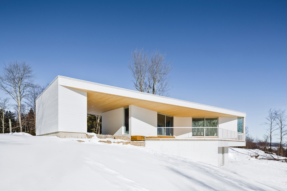 nook residence by mu architecture blends with winter landscape 6 Nook Residence by MU Architecture Blends with Winter Landscape