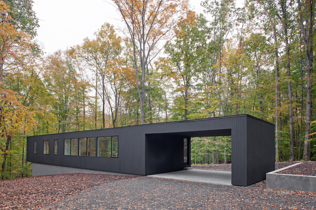 Black House Hidden In The Forest By In Situ Studio 1