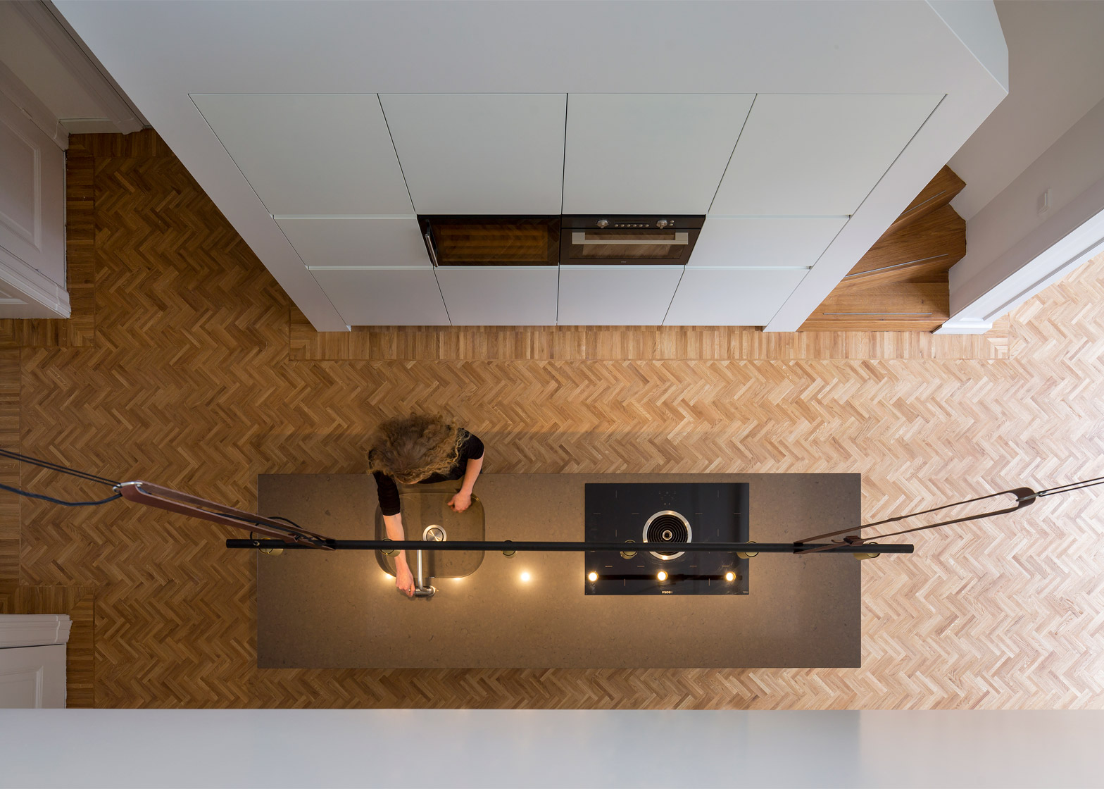 Herringbone Parquet Was Used In This Dutch Townhouse