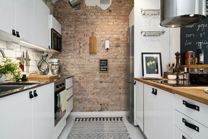 exposed brick wall kitchen Dream kitchens   a collection of 35 most beautiful kitchens