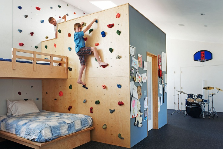 kids climbing wall room 22 Awesome Rock Climbing Wall Ideas For Your Home