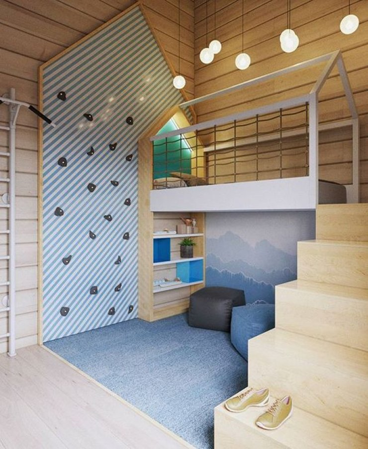 Kids Rooms Climbing Walls And Contemporary Schemes: 22 Awesome Rock Climbing Wall Ideas For Your Home