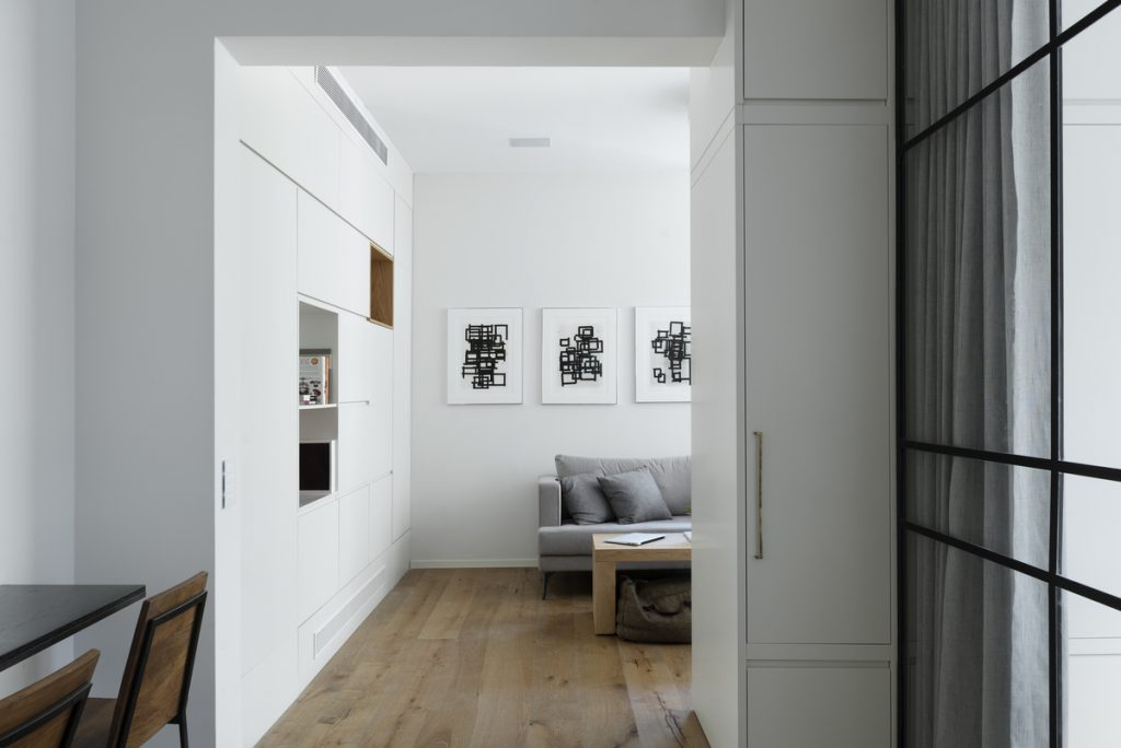 17047 entrance hall a 1024x684 59m² Apartment in Central Tel Aviv by XS Studio