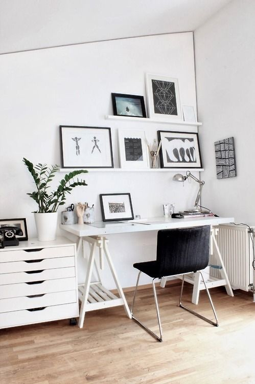 minimalist home office Setting Up a Home Office