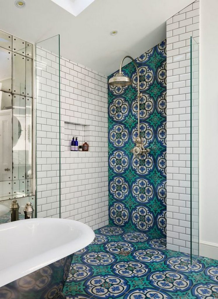 moroccan tile shower 747x1024 Interior Ideas to Transform Your Bathroom