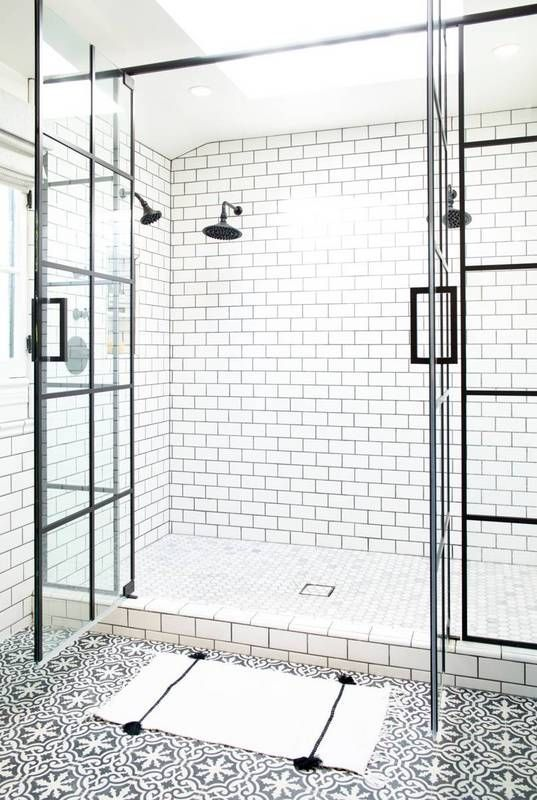 steel paned shower doors Interior Ideas to Transform Your Bathroom