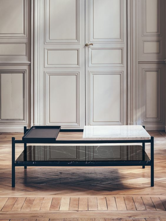 modern coffee table bagneres from mixed materials by belgian designer sylvain willenz Modern Coffee Table: 23 Best Designs and Ideas for Your Living Room