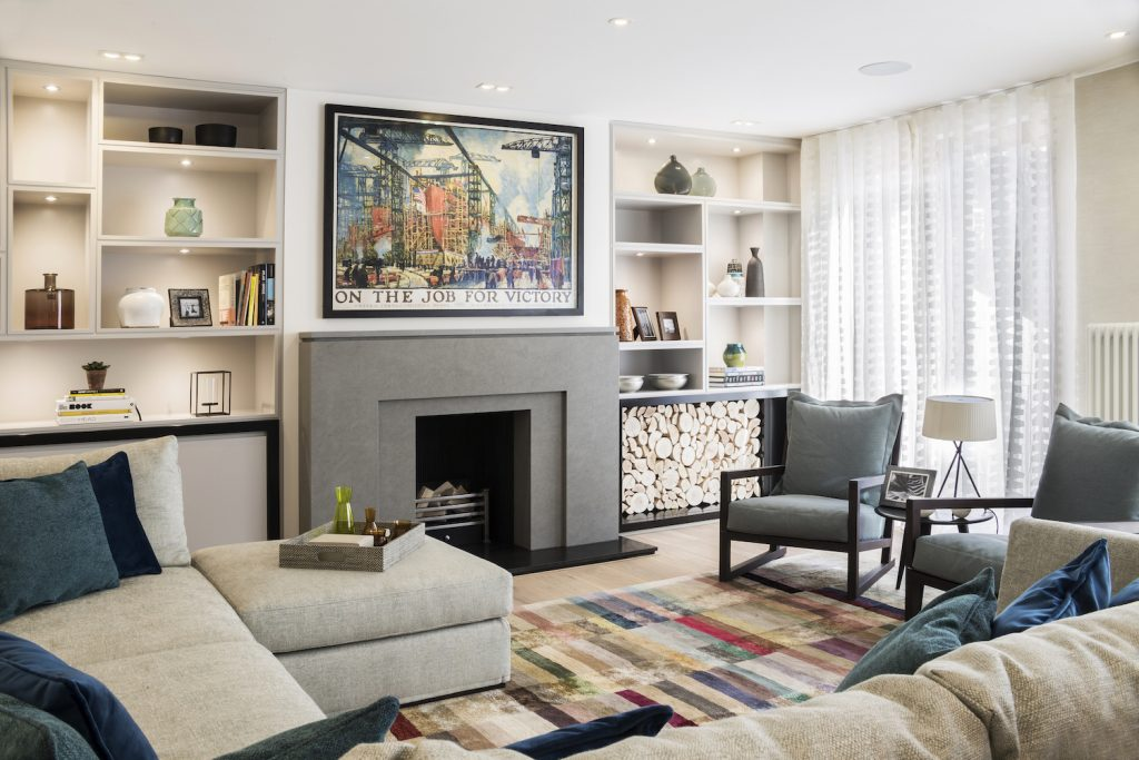 after 3f formal living room lli design 1024x683 A Total Refurbishment Of A Seven story Townhouse In Highgate