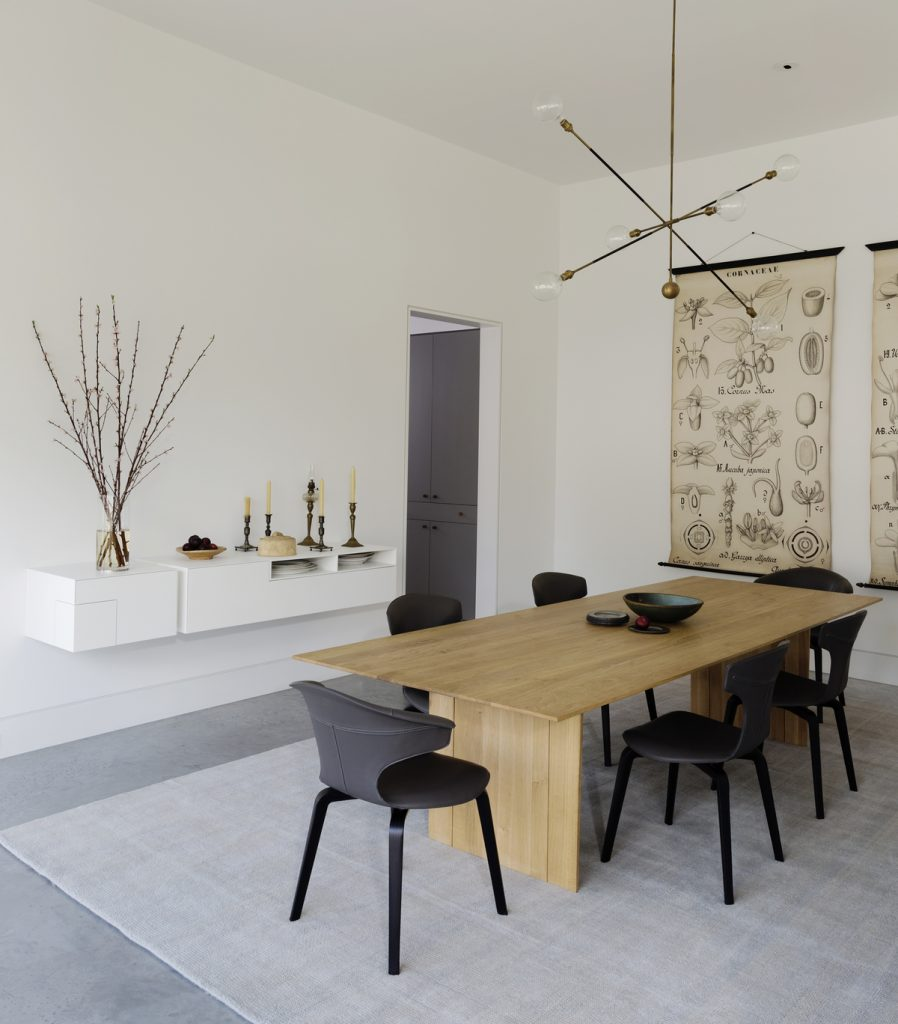 dining room 898x1024 Family Headquarters by Viviano Viviano architecture