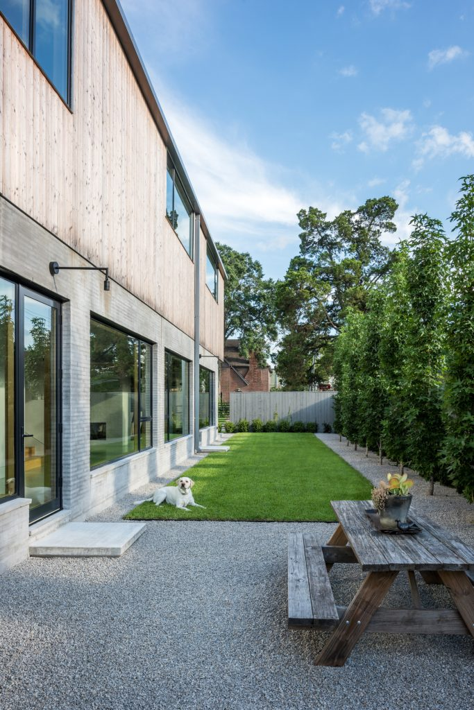 exterior courtyard 683x1024 Family Headquarters by Viviano Viviano architecture