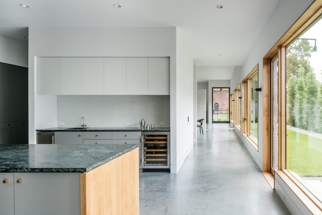 kitchen from main hall 1024x684 Family Headquarters by Viviano Viviano architecture