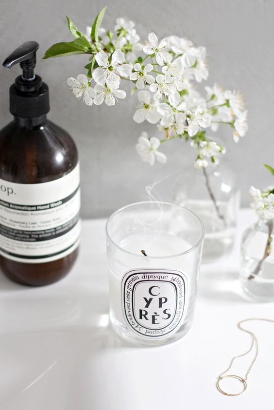 scented candle in the bathroom How to Keep Your Home Smelling Fresh