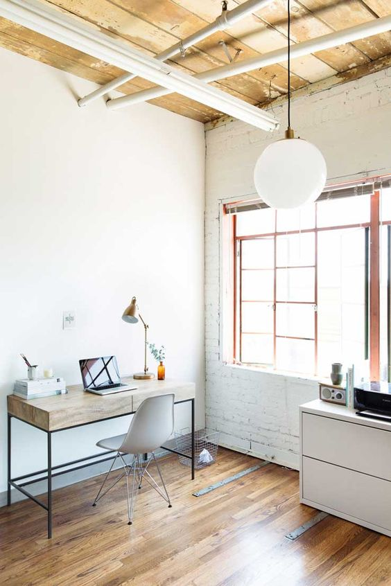 clean home office How To Create A More Productive Home Office Environment