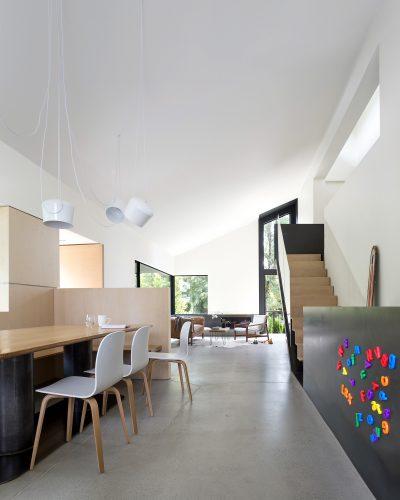 Split-level house renovation by D'Arcy Jones Architects