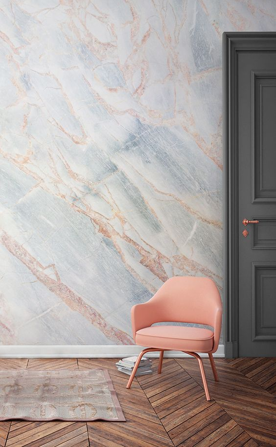 faux marble wallpaper 8 Low Cost Ideas for Creating a Unique Home Interior