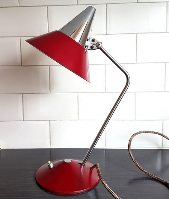 helo leuchten desk lamp 1960s 8 Low Cost Ideas for Creating a Unique Home Interior