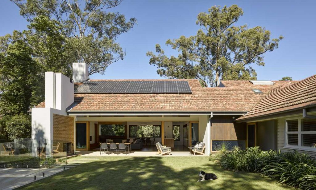 %name Terracotta Tiled Roof House Renovation By Shane Thompson Architects