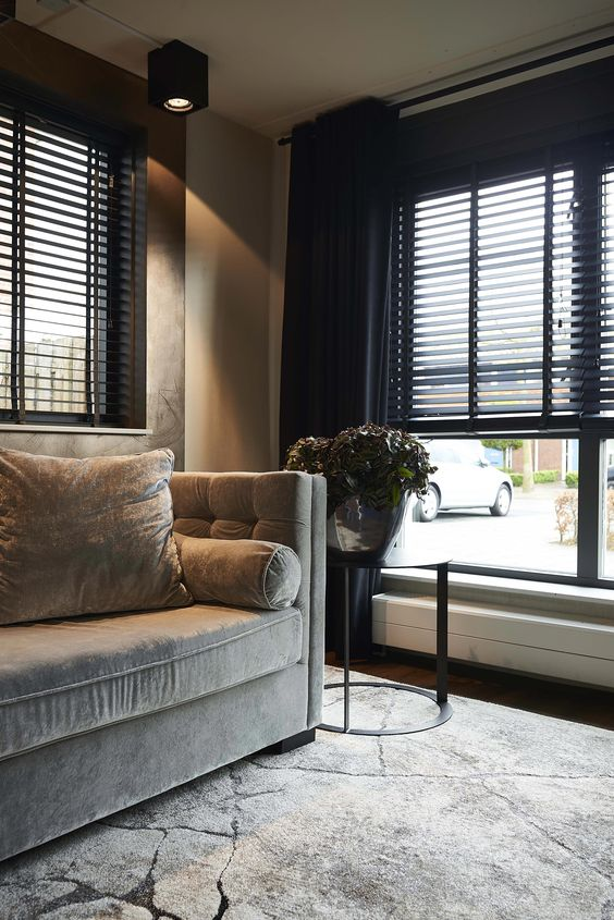 black window shutters Contemporary window covering ideas to make your home more cosy