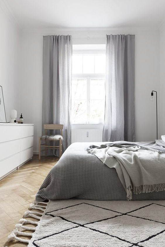 grey curtains Contemporary window covering ideas to make your home more cosy