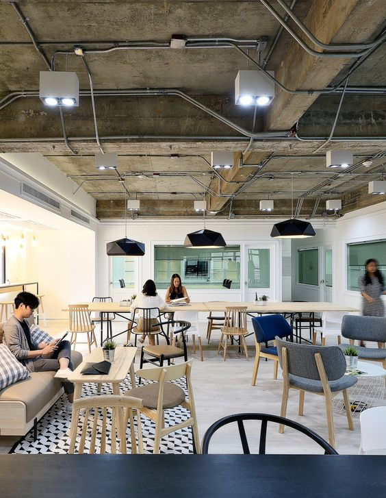 coworking offices of paperwork Using Office Design to Embrace Collaboration