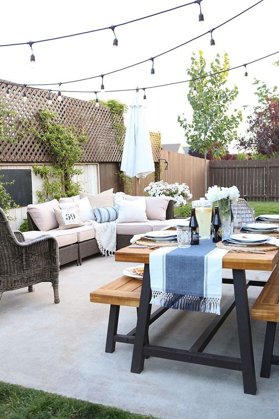 small outdoor patio furniture Unique Outdoor Decorations For Summer Parties