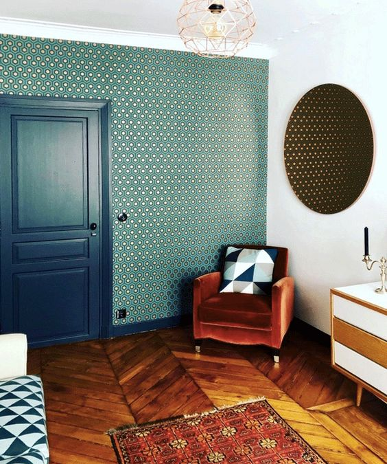 geometric pattern living room Ride the Geometric Wave: The Latest Home Design Trend