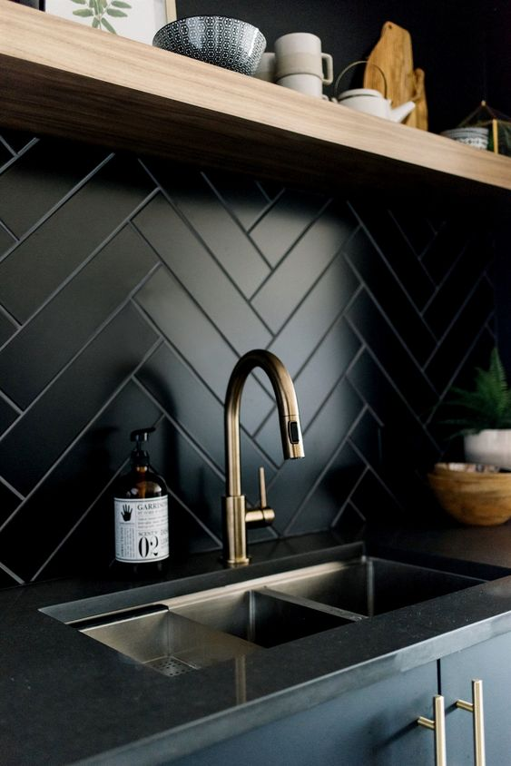 herringbone pattern Ride the Geometric Wave: The Latest Home Design Trend