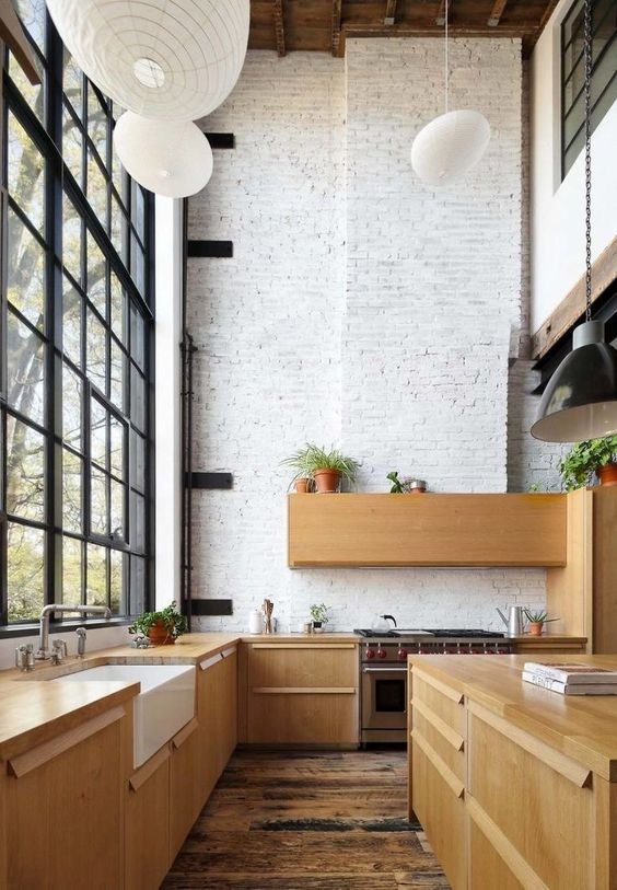 loft kitchen with high ceiling How to Make the Most of High Ceilings