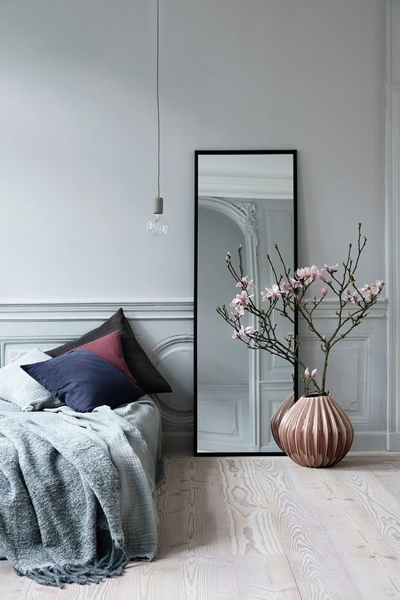 minimalist mirror How to Make the Most of High Ceilings
