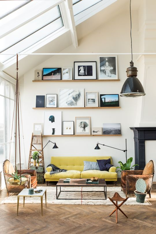 wall hangings How to Make the Most of High Ceilings