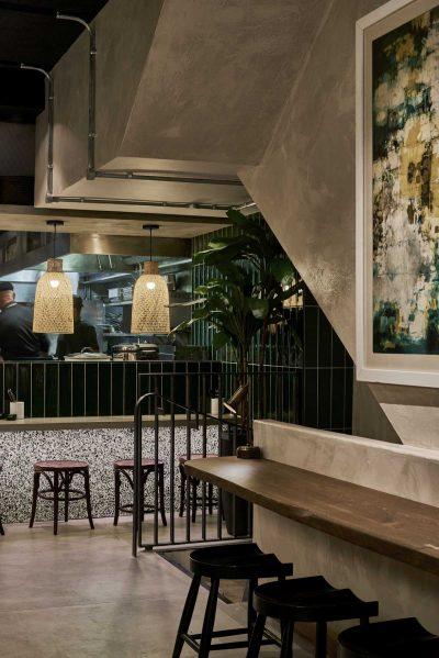 A modernist Sri Lankan restaurant by interior designer Annie Harrison