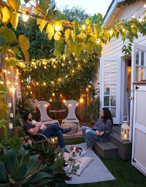 backyard lighting How to Create the Perfect Backyard for Your Peaceful Hideout
