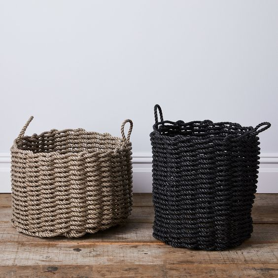 minimalist baskets Top 5 Tips to Organize Your Home