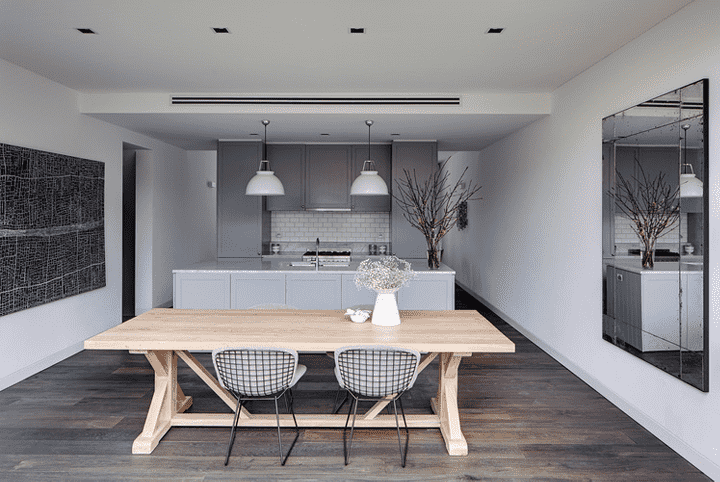 79ideas dining area with the kitchen Clean and Elegant Sidney House