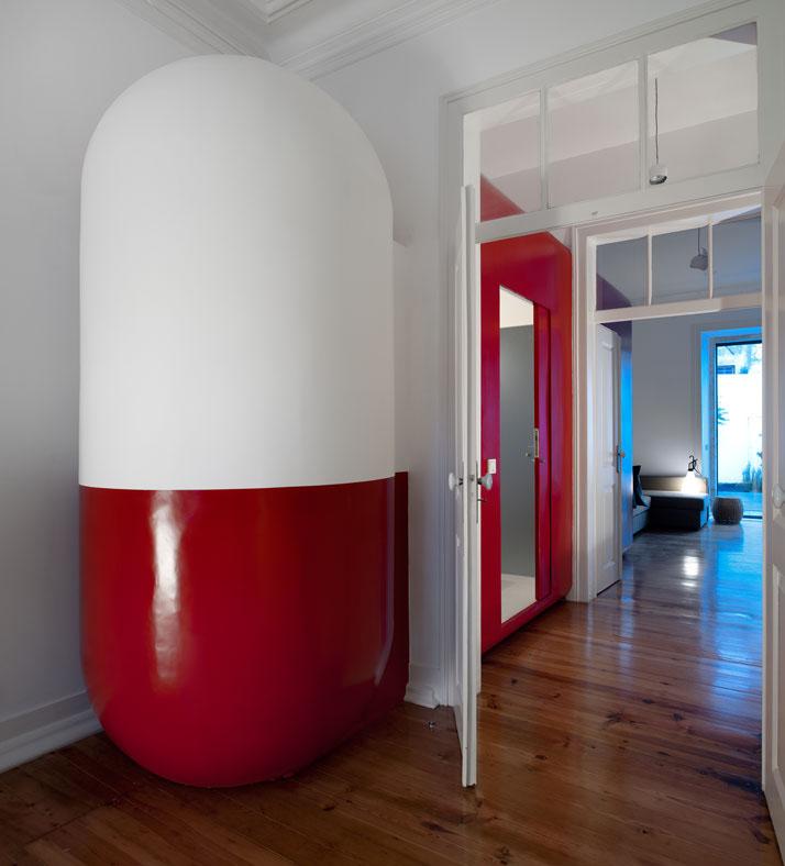GMG House Pedro Gadanho 11 Multicolor and Contemporary Interior in Portugal