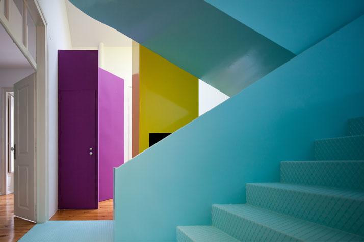 GMG House Pedro Gadanho 3 Multicolor and Contemporary Interior in Portugal