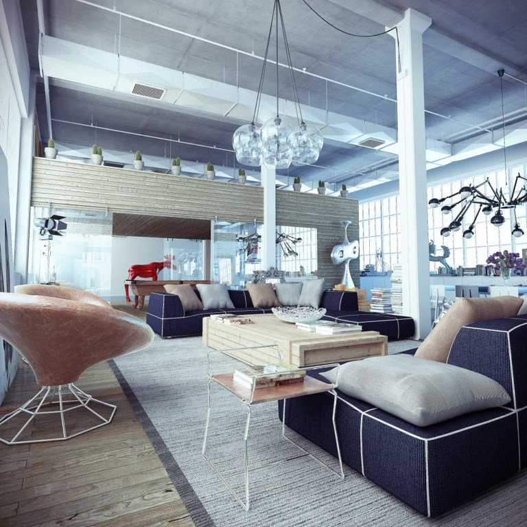 industrial2 Loft: Friendship Between Wood, Silver and Glass